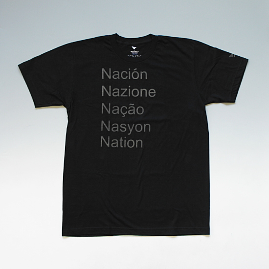 ROCNATION UNIVERSAL TEE ロックネイション ネイションプリントデザインTシャツ ブラック ¥5,880(税込)
